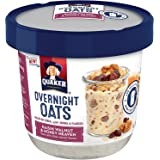 Quaker Overnight Breakfast Cereal Oats, Raisin Walnut & Honey Heaven, 2.61 Ounce