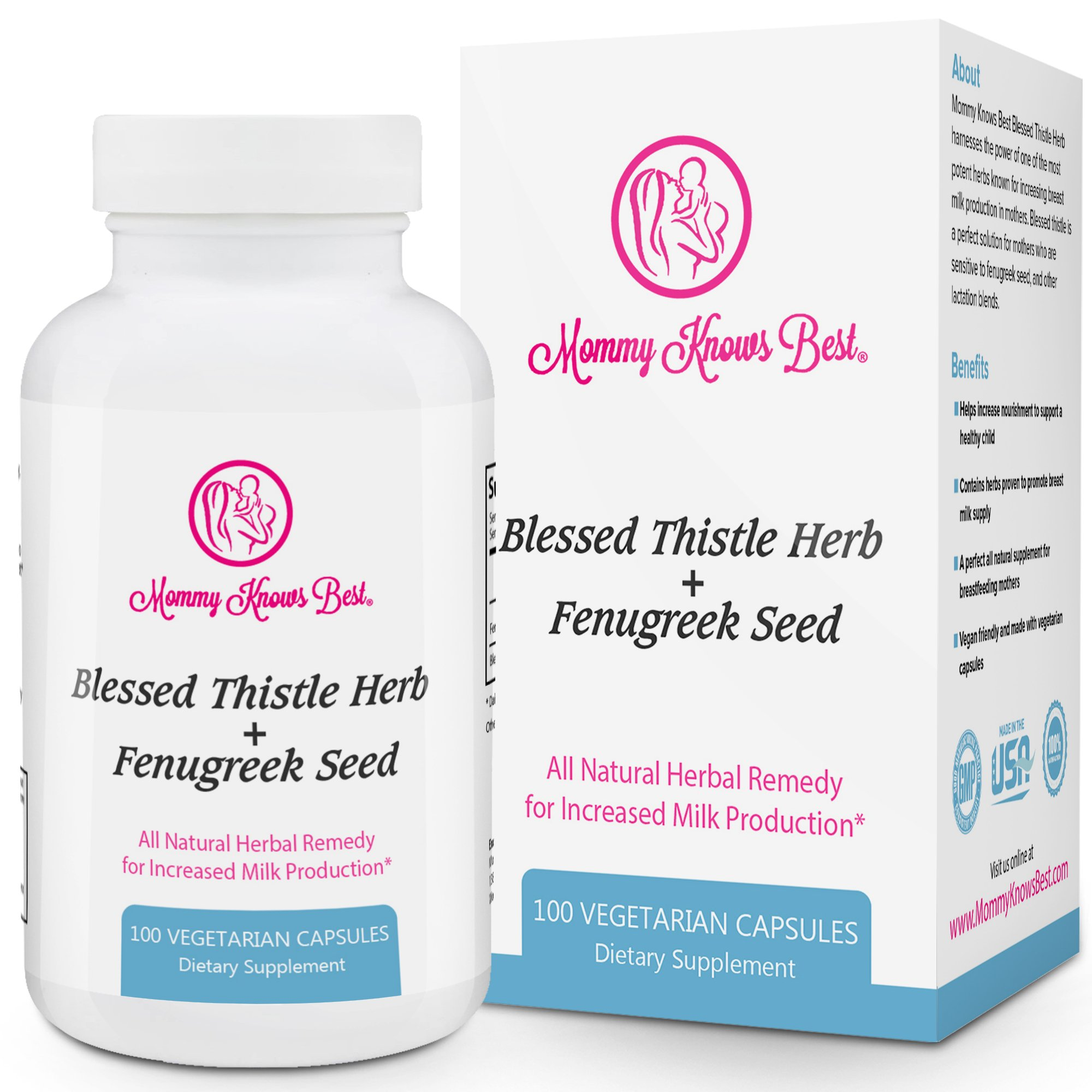 Lactation Supplement For Breastfeeding Mothers To Herbs Of Gold Support 60 Tablets Fenugreek And Blessed Thistle Aid 100 Vegetarian Capsules