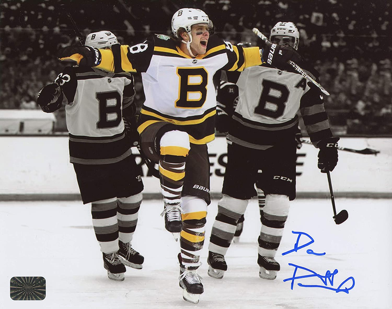 newest e107b 04635 David Pastrnak Boston Bruins Signed Autographed 2019 Winter ...