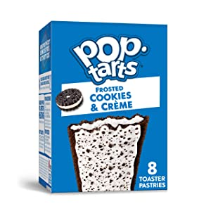 Pop-Tarts, Breakfast Toaster Pastries, Frosted Cookies and Crème, Proudly Baked in the USA, 13.5oz Box (1 Pack 8 Count)
