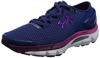 Under Armour Womens UA Speedform Gemini 21 Heron White Purple Lights  Sneaker 55 B