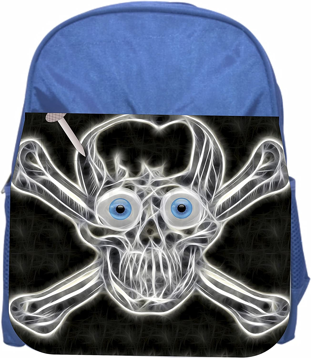 Skull /& Crossbones Boys Blue Preschool Toddler Childrens Backpack /& Lunch Box Set