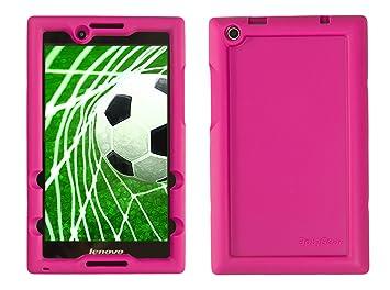 BobjGear Carcasa Resistente para Tablet Lenovo Tab 2 A8-50, A8-50F and Tab 3 TB3-850F, TB3-850M - Bobj Funda Protectora (Rosa)