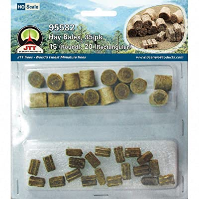 """JTT Scenery HO Hay Bales, 1/2"""" (35): Toys & Games"""