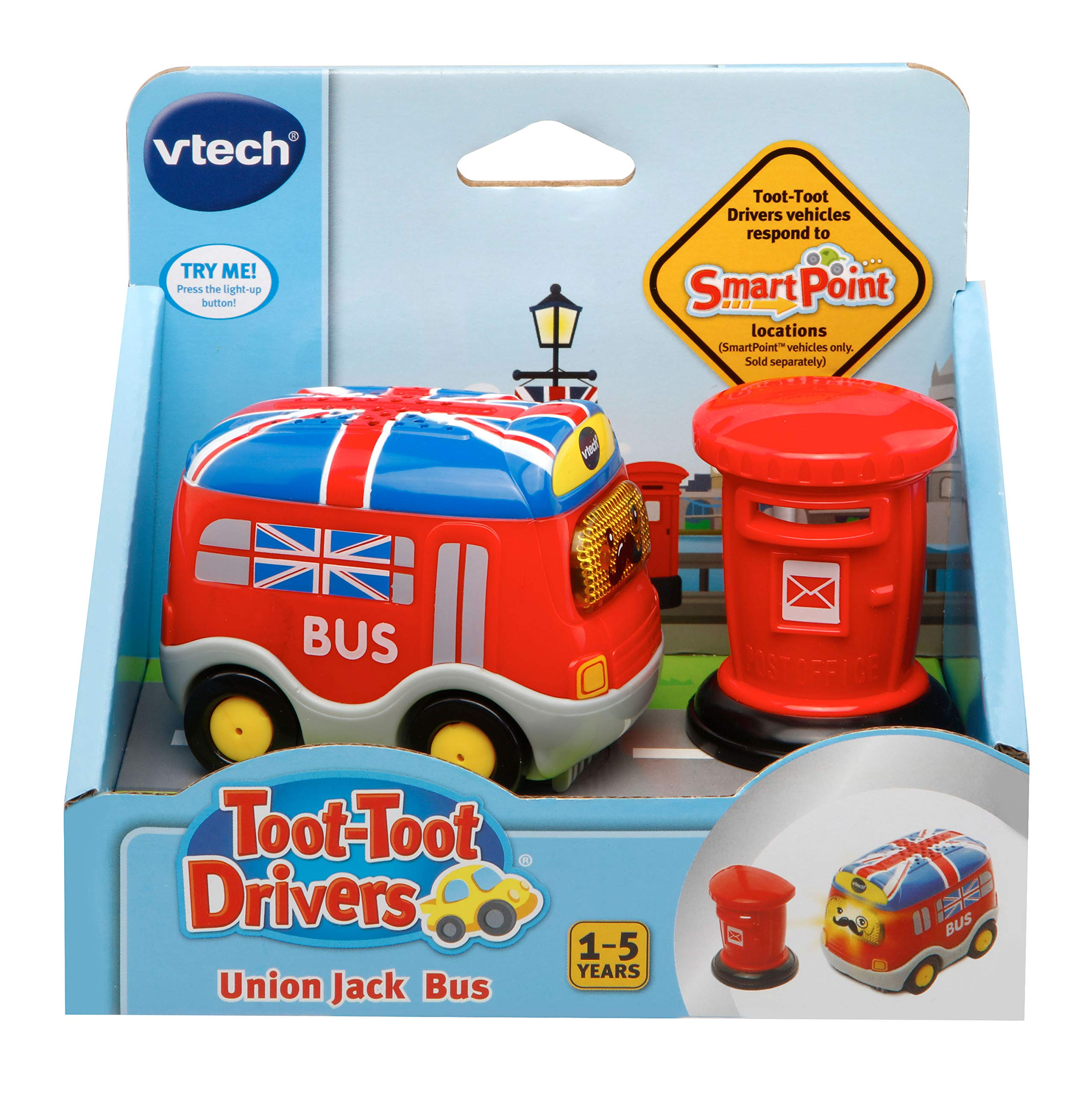 VTech Baby Toot-Toot Drivers Union Jack Bus Toy (Dispatched From UK) by VTech