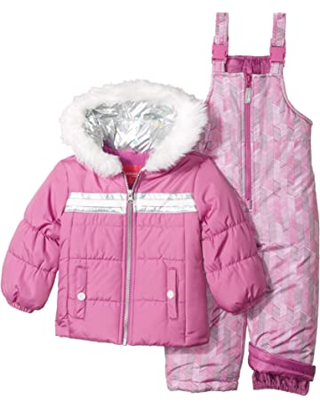 9a7a65470 London Fog Girls' Snowsuit with Snowbib and Puffer Jacket