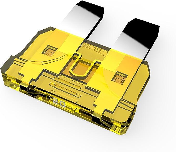 STECKSICHERUNG FLACHSICHERUNG 1A 32V 1 Amp 32 Volt schwarz 6ER PACK
