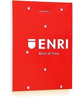 Enri 100105158 - Pack de 10 blocs de notas grapados de tapa blanda, A6: Amazon.es: Oficina y papelería