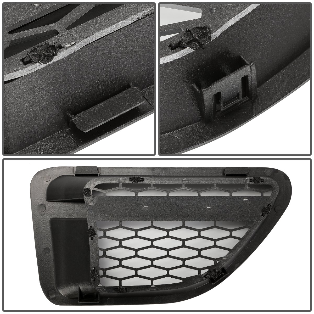 Gray Surface Silver Mesh for Land Rover Range Rover Sport L322 Side Fender Vent Mesh Grille