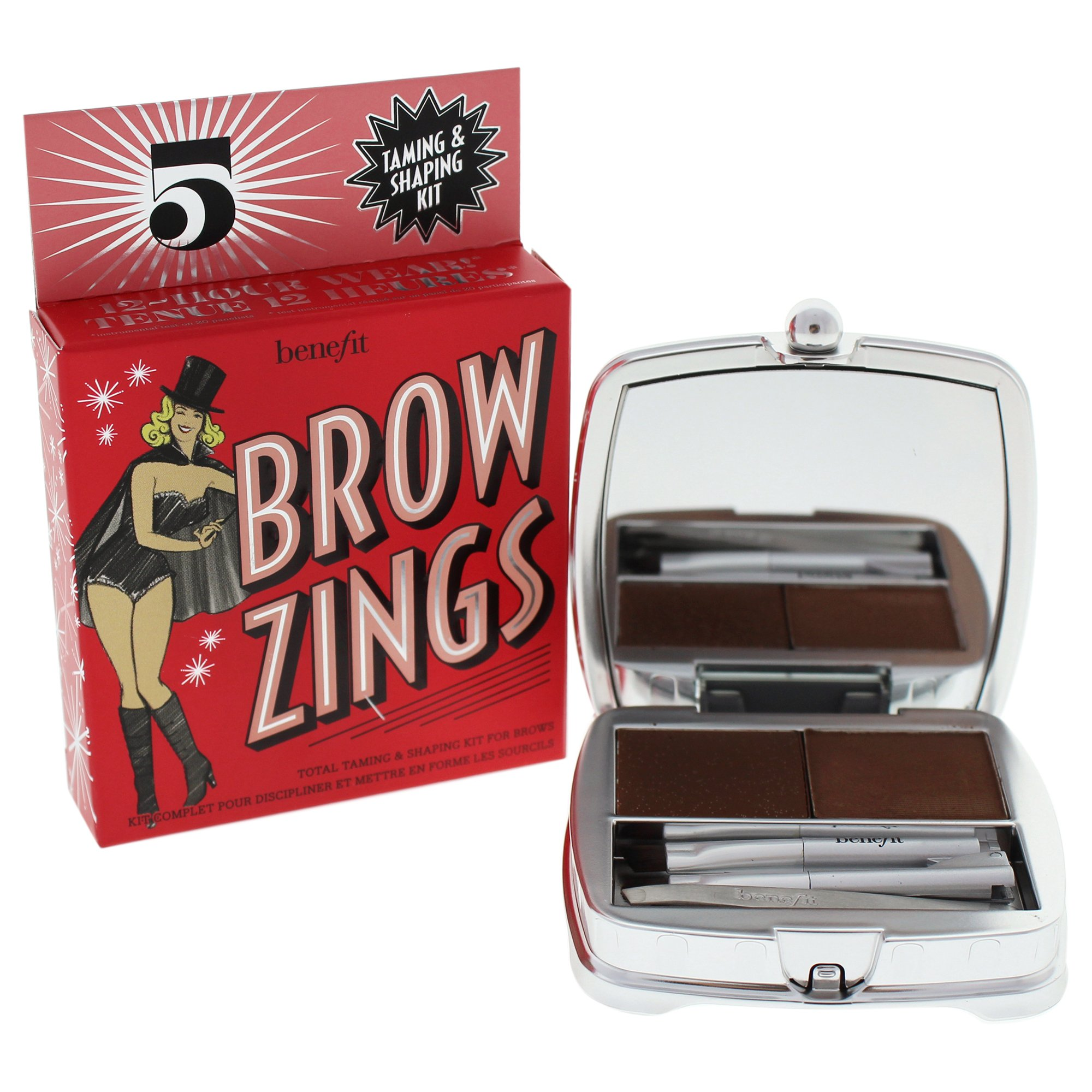 Benefit Brow Zings Total Taming and Shaping Kit, No. 5 Deep, 0.15 Ounce by Benefit