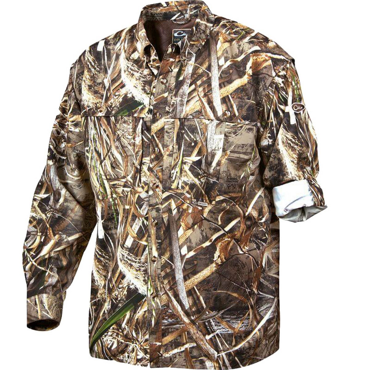 Drake Waterfowl Men's LST L/S Camo Vented Wingshooter's Shirt (Small) by Drake Waterfowl