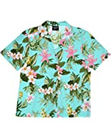 RJC Womens XS to XXL Orchid Plumeria Camp Shirt