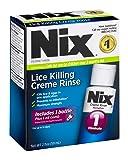 Nix Lice Killing Creme Rinse | Includes Nit Removal Comb | 2 FL OZ