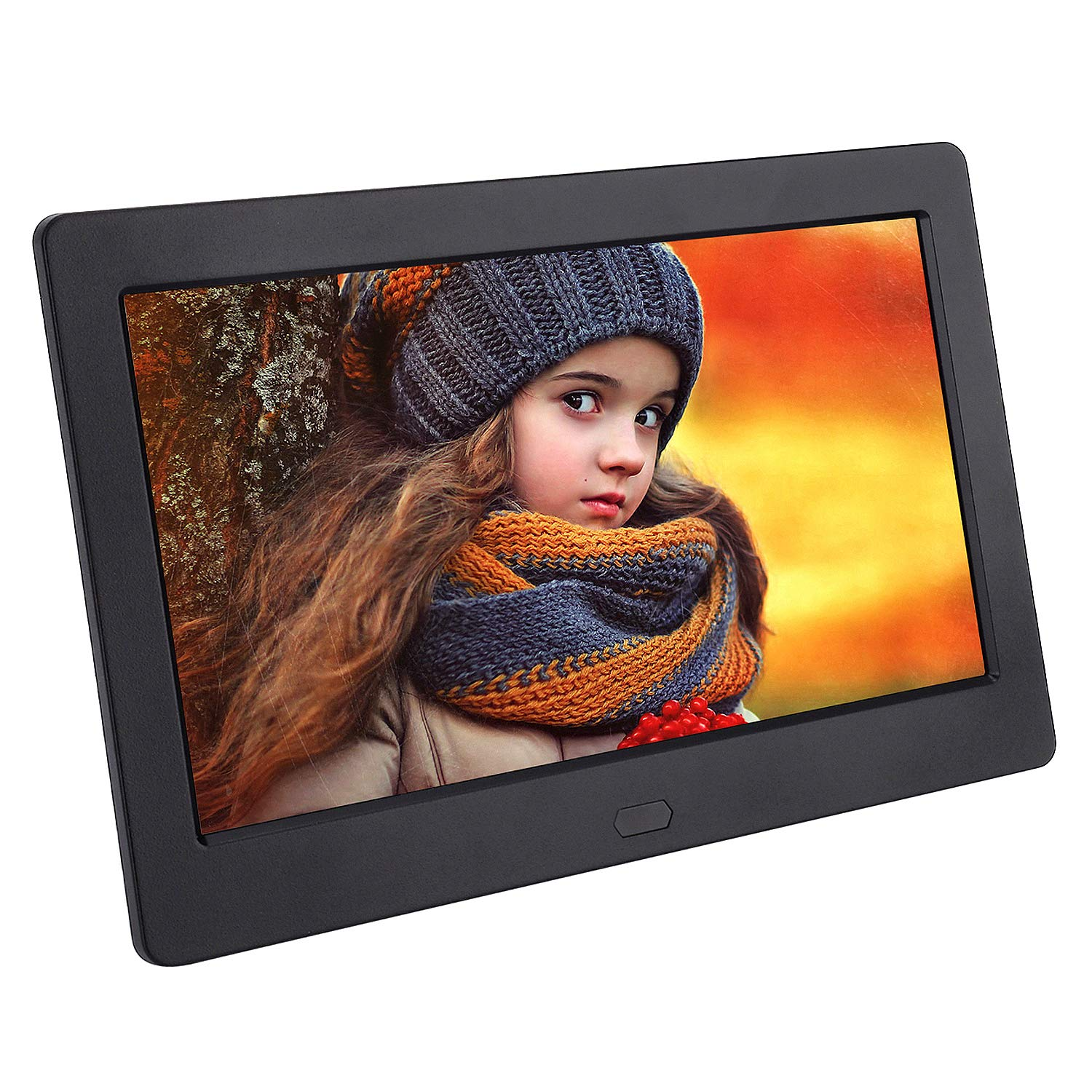 Digital Picture Frame 7 Inch 1280x800 (16:9) IPS Widescreen Display,FamBrow Smart Electronic Digital Photo Frame Auto On/Off Timer,Support 1080P Video,Stereo,MP3,Calendar,Remote Control