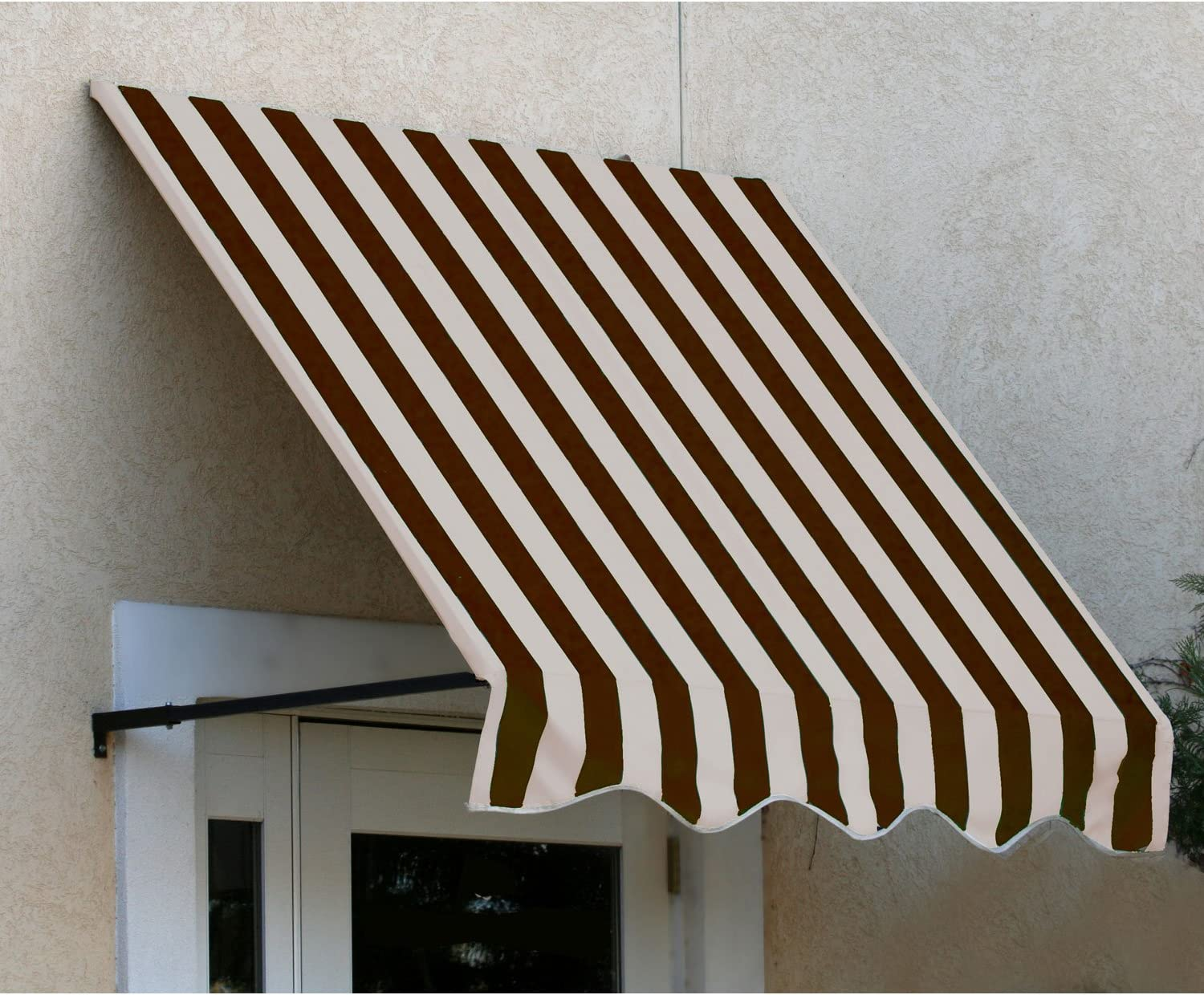 44-Inch Height by 48-Inch Diameter Awntech 6-Feet Dallas Retro Window//Entry Awning Linen