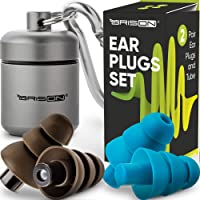 Noise Cancelling Ear Plugs for Sleeping - Reusable Safe Silicone Earplugs Musicians Hearing Protection with High Fidelity Sound Reduction for Concerts Musicians Motorcycles Shooting Working
