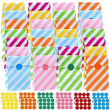 Amazon.com: Cooraby - Bolsas de papel para fiestas (60 ...