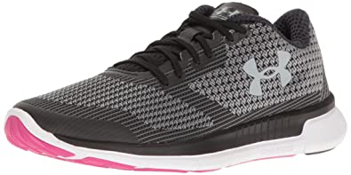under armour charged. under armour women\u0027s charged lightning, black/white/overcast gray, 10 b(