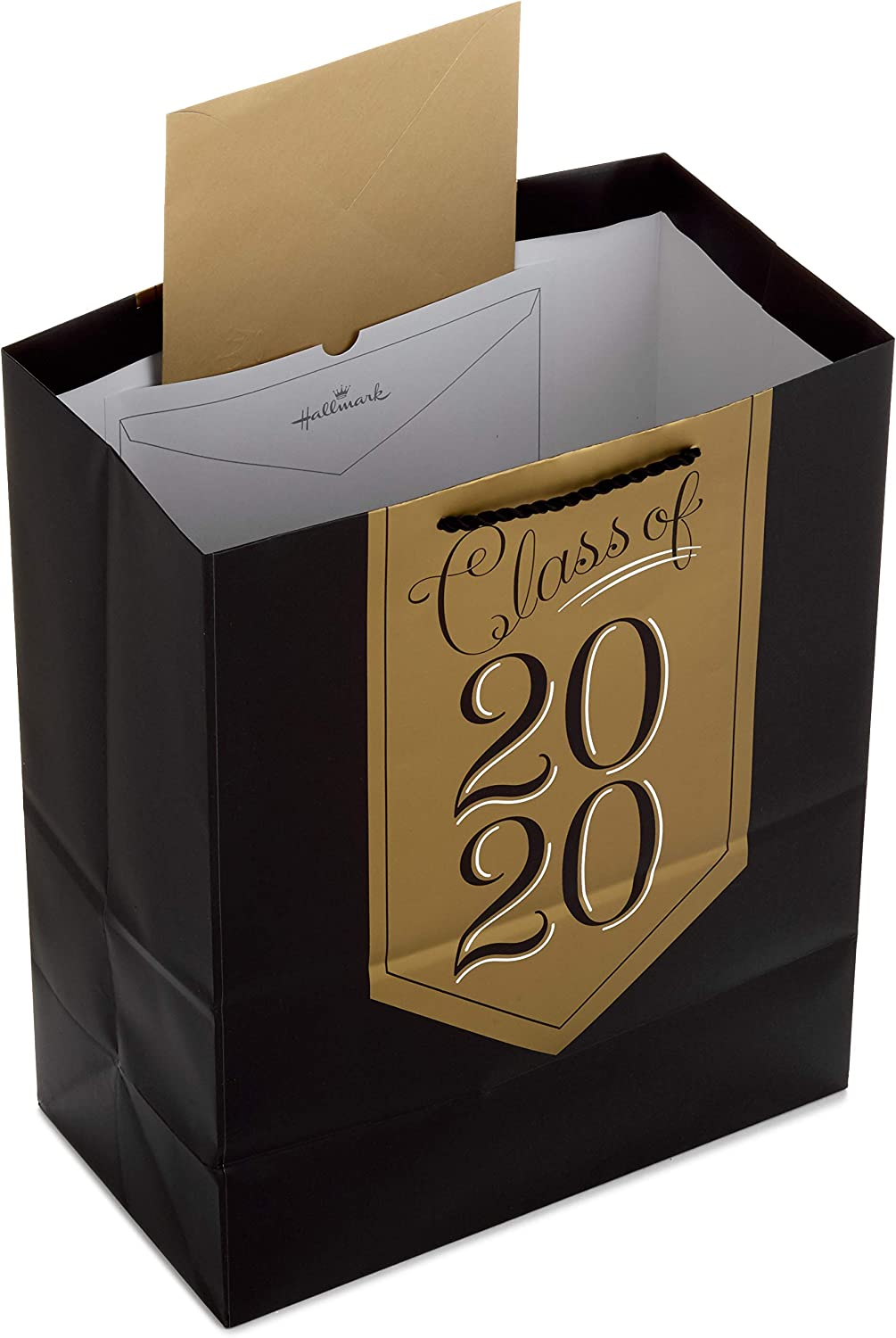 Black Pack of 3: Class of 2020, Congrats, Graduation Caps Hallmark 13 Large Graduation Gift Bags Assortment with Tissue Paper 0005GBC1732