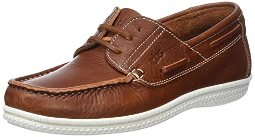 Mens Yolles B8 Boat Shoes, Cognac TBS