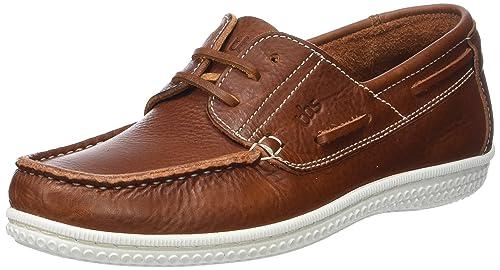 Mens Yolles B8 Boat Shoes, Cognac TBS