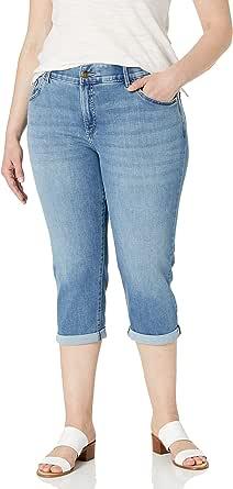 Lee Women's Plus Size Flex Motion 5 Pocket Capri Jean