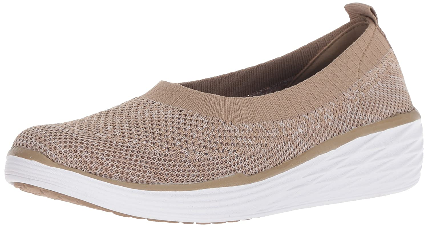 Ryka Women's Nell Walking Shoe B079ZKYRQX 6 W US|Taupe/White