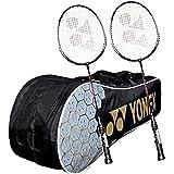 Yonex Kitbag Racquet Badminton Kit (1 SUNR 1005 Badminton Kitbag + 2 GR 303 Badminton Racquet, BLACK)