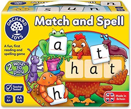 Orchard Toys Match And Spell Children/'s Puzzle Educational Board Game