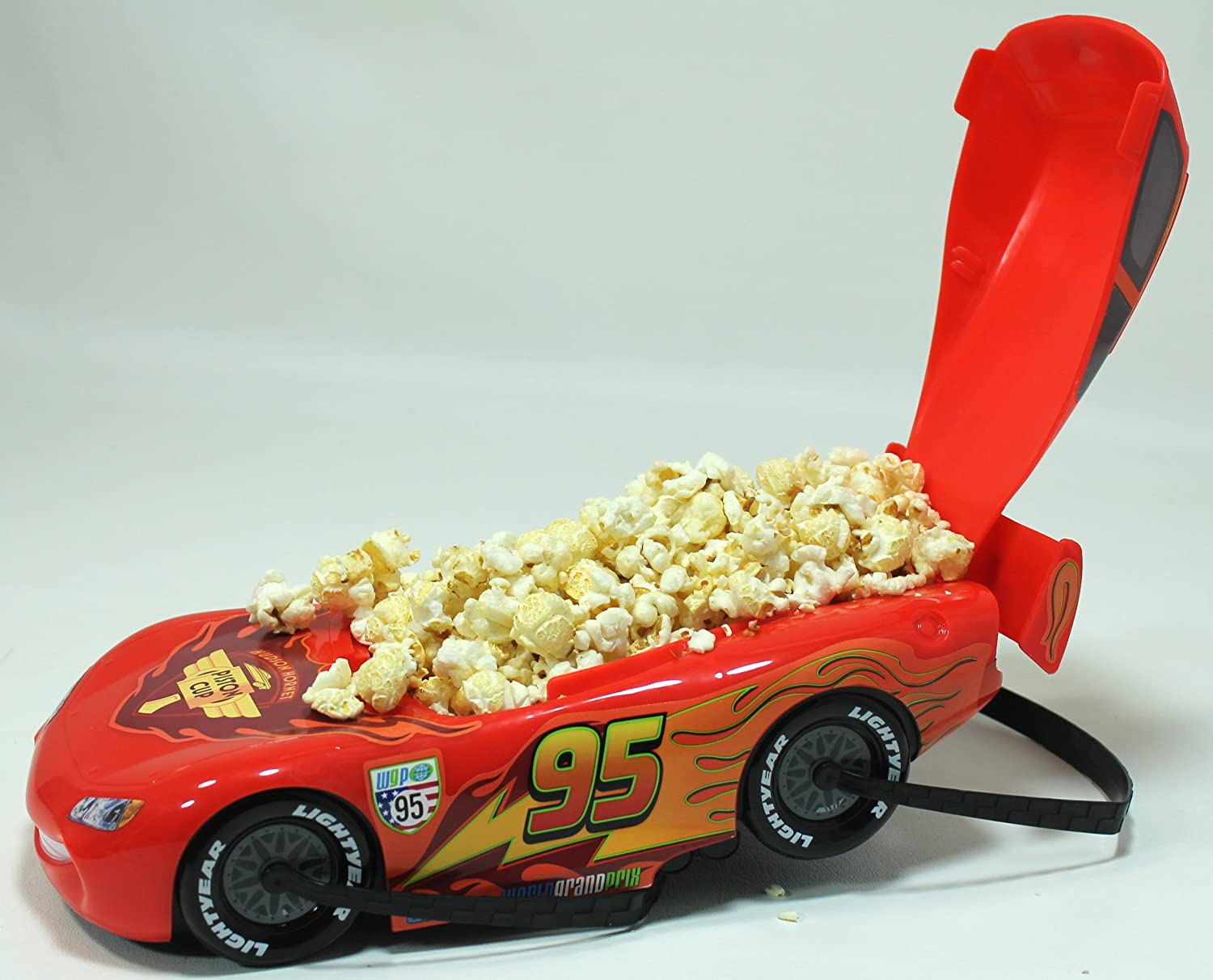 Disney Parks Cars Land Lightning McQueen Popcorn//Snack Bucket Disney Parks Exclusive /& Limited Availability