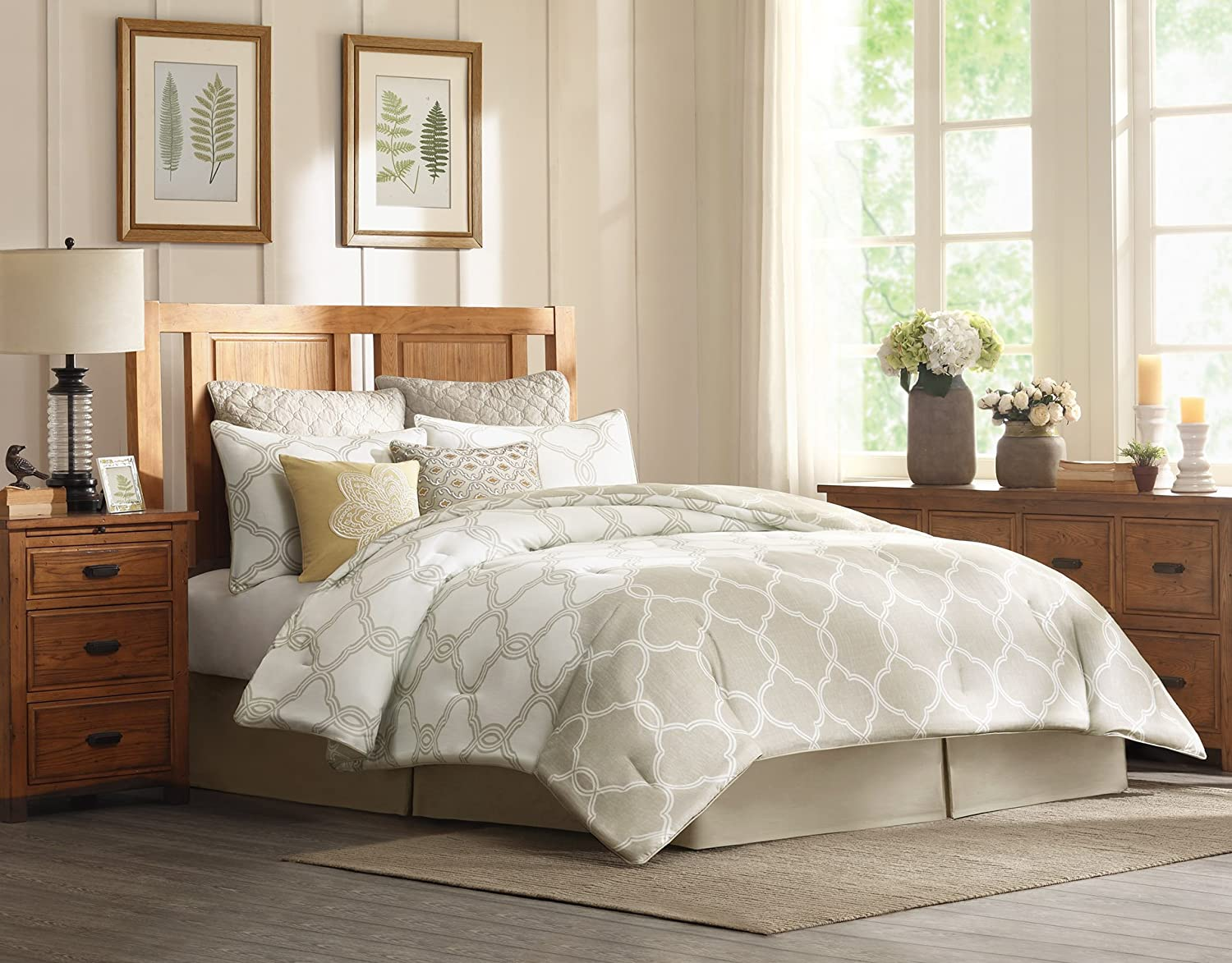 Harbor House Gentry Comforter Set, California King, Neutral