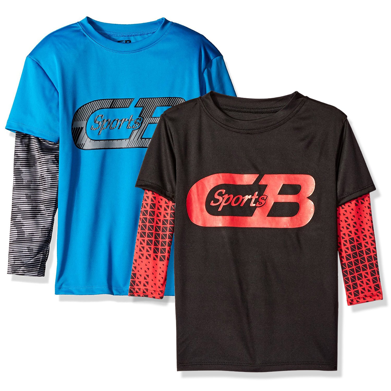 CB Sports (2-pack) Boys' Athletic Long Sleeve Hangdown T-Shirt