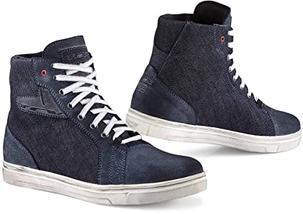 6a3d94cb8887b Amazon.com: TCX Ace Denim Adult Street Motorcycle Shoes - Blue Denim ...