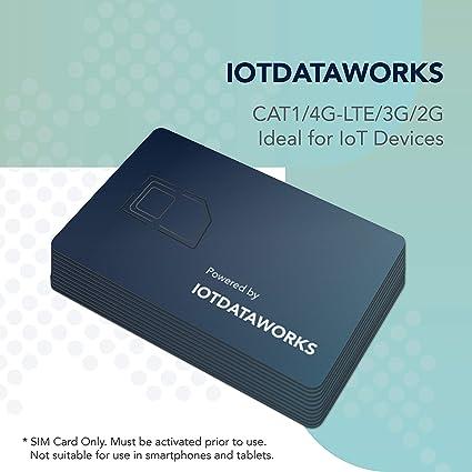 Amazon.com: IoTDataWorks – Tarjeta SIM IoT ilimitada con ...