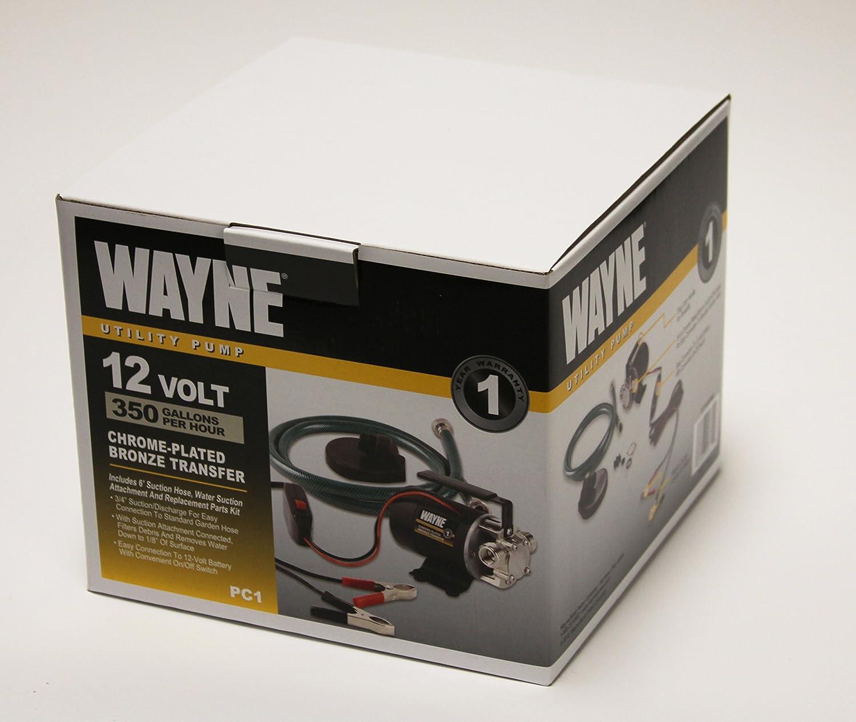 Amazoncom WAYNE PC1 Portable 12V BatteryPowered Water Transfer
