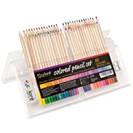 Colored Pencils Pre-Sharpened Colored Pencil Set with Eraser and Sharpener (60-Piece)