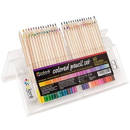Lápices De Colores Colore Set Premium De Lápices De Colores Pre Afilados Para Colorear Dibujos Borrador Y Sacapuntas Gratis Gran Complemento