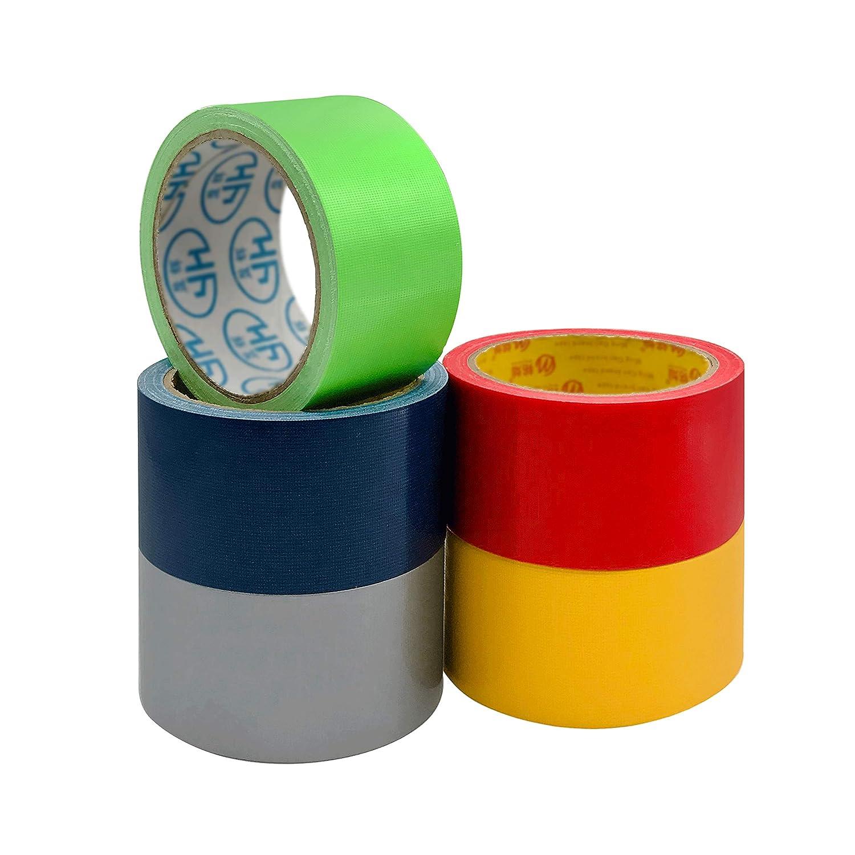 Cinta adhesiva de color arcoíris TSAUTO 5 colores(5cmx9.1m)