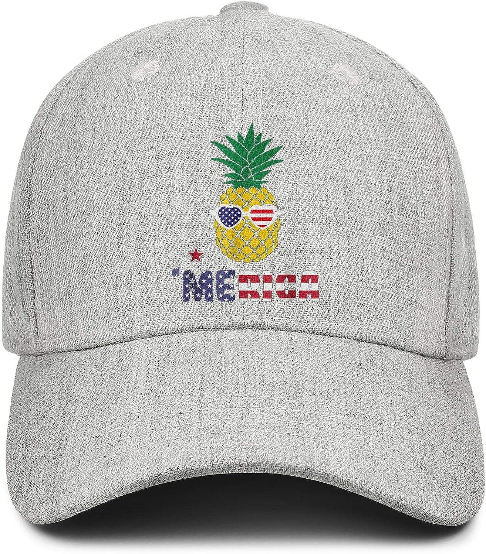 Merica Patriotic Pineapple Unisex Baseball Cap Ultra Thin Sport Hats Adjustable Trucker Caps Dad-Hat