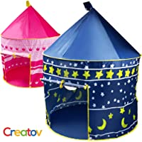 Creatov Kids Tent Toy Prince Playhouse - Toddler Play House Blue Castle for Kid Children Boys Girls Baby for Indoor & Outdoor Toys Foldable Playhouses Tents with Carry Case Great Birthday Gift Idea