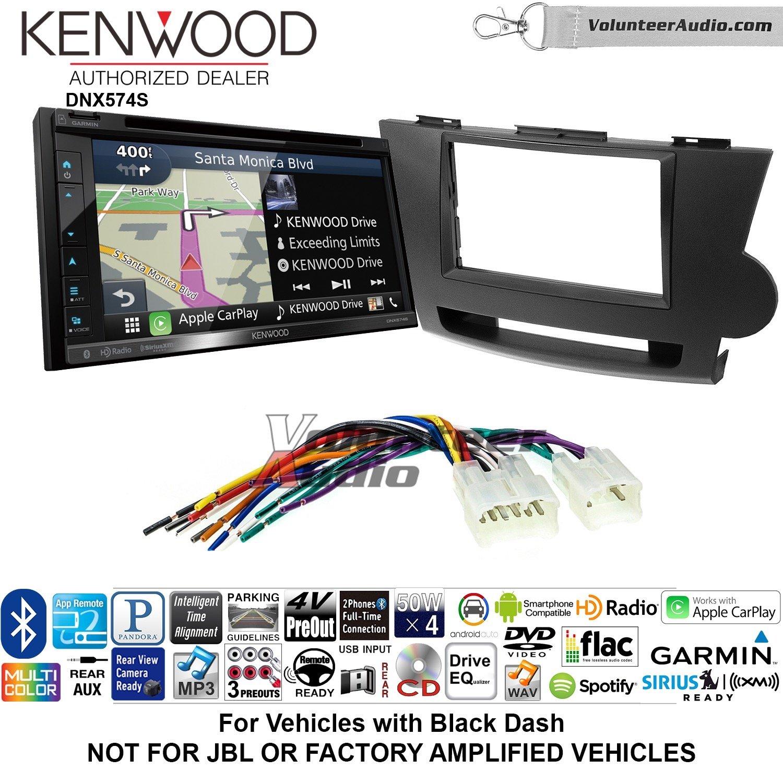 Kenwood dnx574sダブルDINラジオインストールキットwith GPSナビゲーションApple CarPlay Android自動非増幅Fits 2008 – 2013 Toyota Highlander (ブラック) B07C1XBYP6