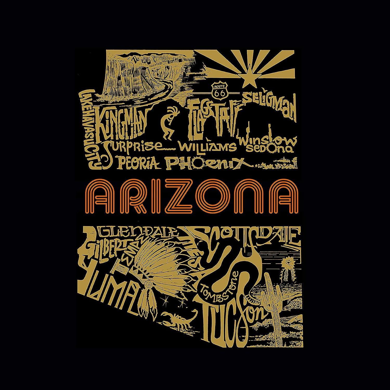 Arizona Cities Girls Word Art Hooded Sweatshirt LA Pop Art