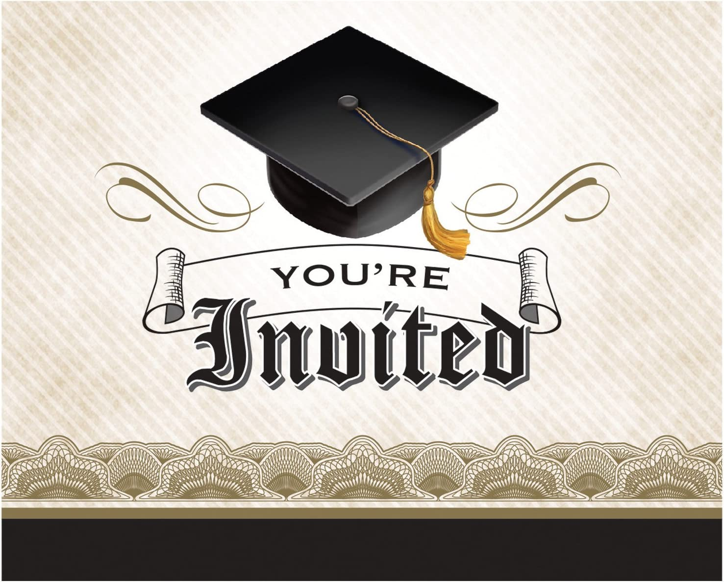 Graduation New Grad Hot Pink Post Card Invitations 25 pack