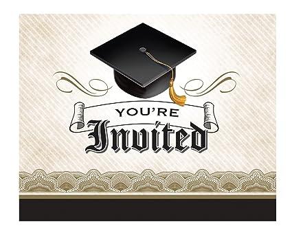 Graduation Invitation | Amazon Com Creative Converting 892216 8 Count Cap And Gown