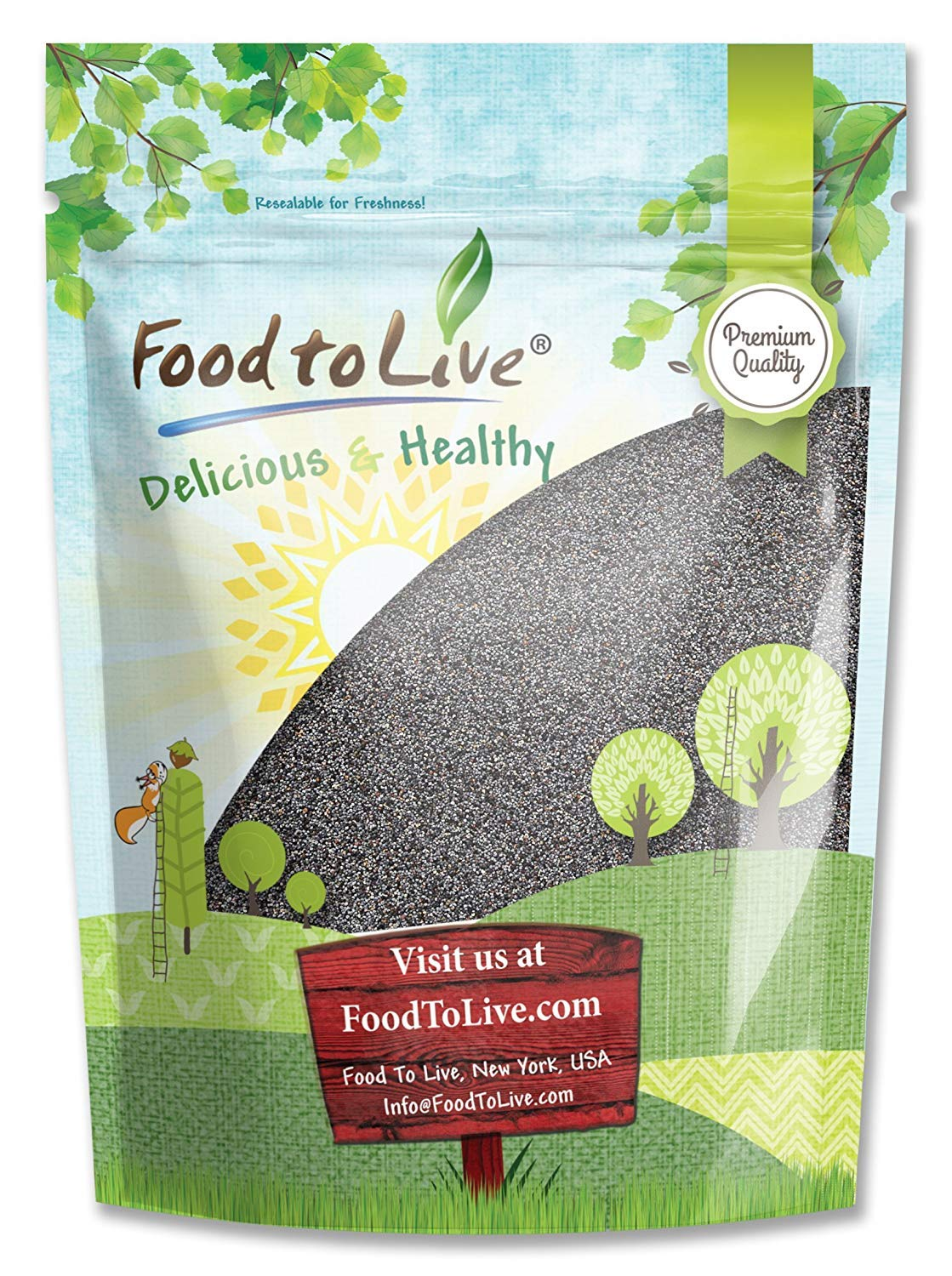 Food to Live English Poppy Seeds for Baking (Kosher) (4 Pounds)