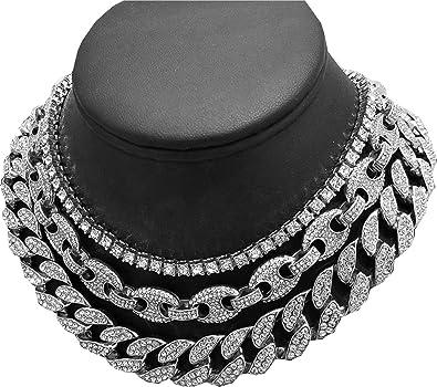 collier diamant ras de cou homme