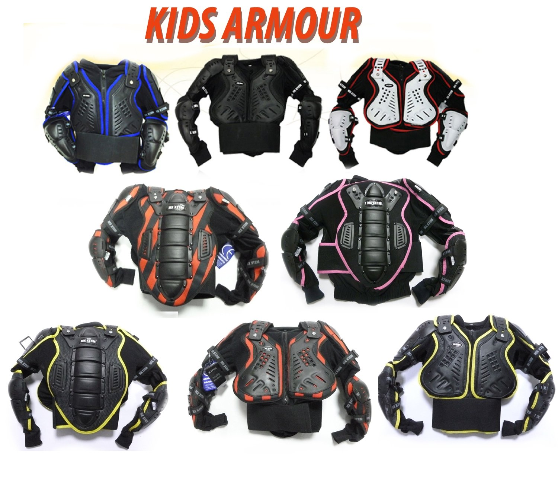 XTRM Junior Enduro Corpo Pettorina Moto Corazza Tutti I Colori Bambini Motocross Giacca Quad Scooter Armatura Protettiva Gilet