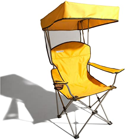 Strathwood Folding Canopy Chair Sunflower with Silver Frame  sc 1 st  Amazon.com & Amazon.com : Strathwood Folding Canopy Chair Sunflower with ...