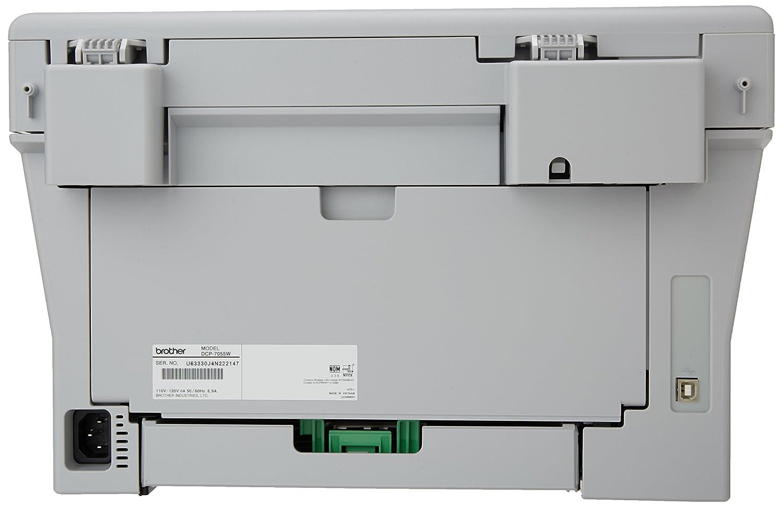 Brother DCP 7055 W - Impresora Multifunción Blanco y Negro: Amazon ...