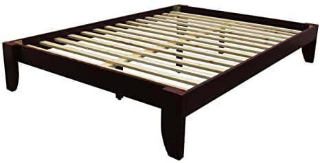 size 40 f0dae dbabf Stockholm Solid Wood Bamboo Platform Bed Frame, Twin-size, Mahogany Finish